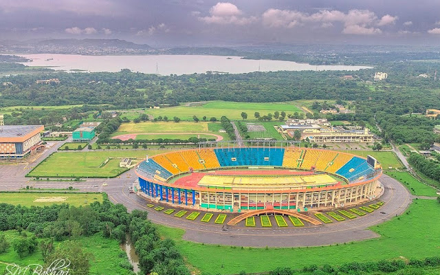 An Aerial View of Jinnah Stadium,Pakistan Sports Complex, Islamabad.