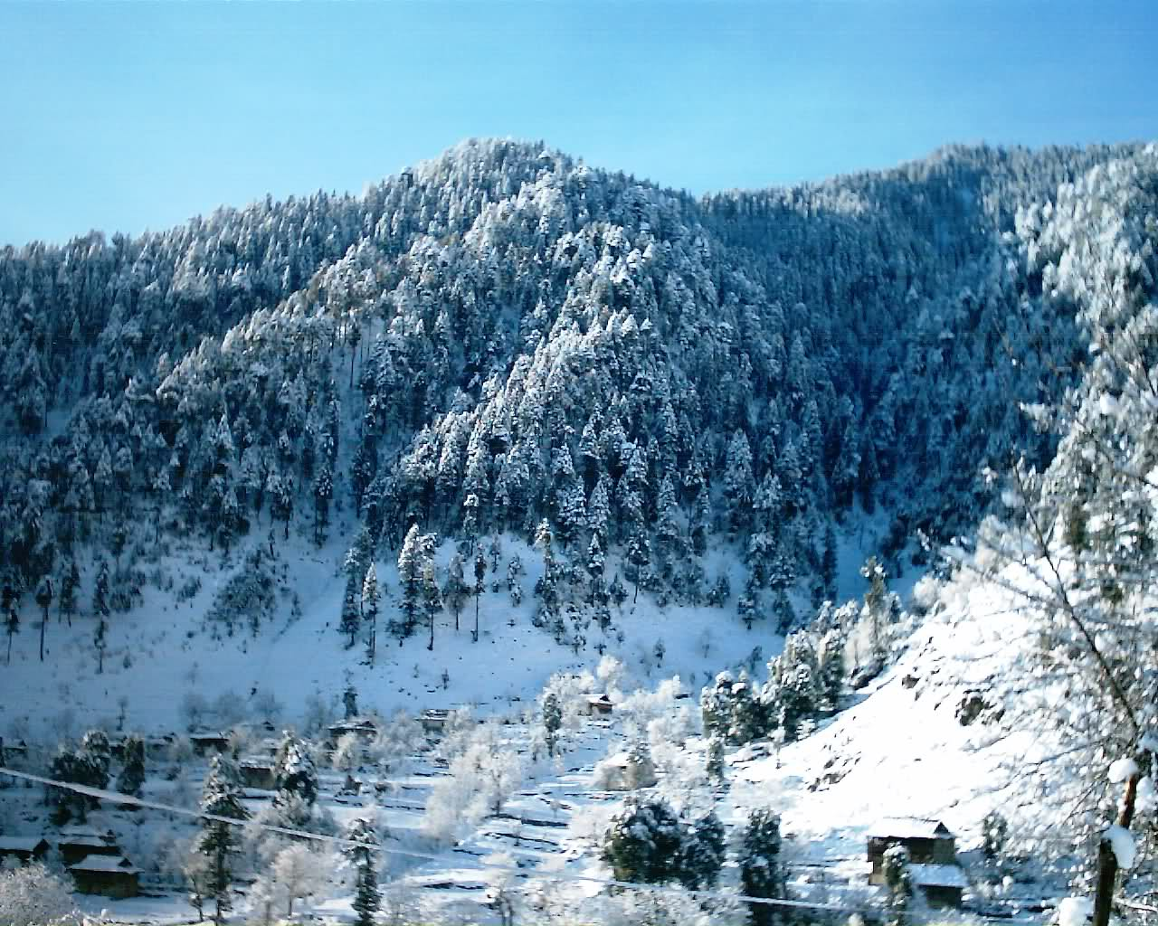 Leepa Valley in Winter