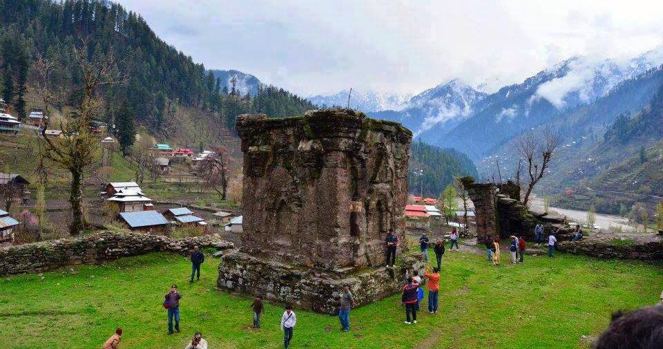 Ruins of the 9th century Sharda University, Neelum Valley, Kashmir