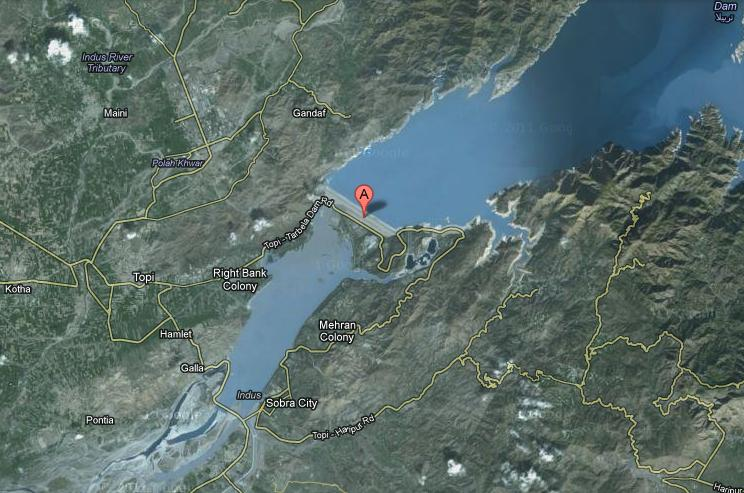 Tarbela-Dam-and-Terbela-Colony-Satellite-Map