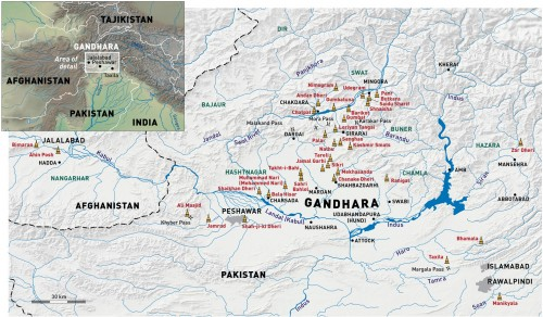 Map of Gandhara