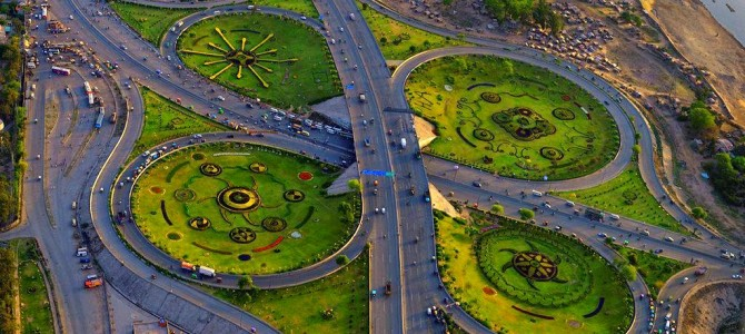 Beautiful Aerial Veiw of Lahore City