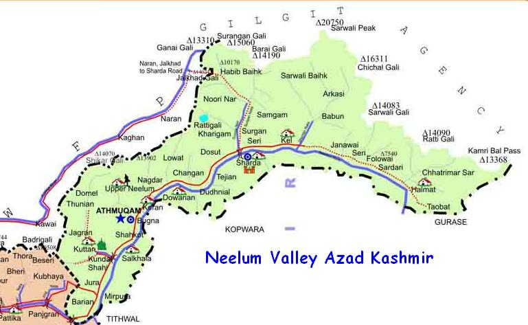 neelum-valley-map