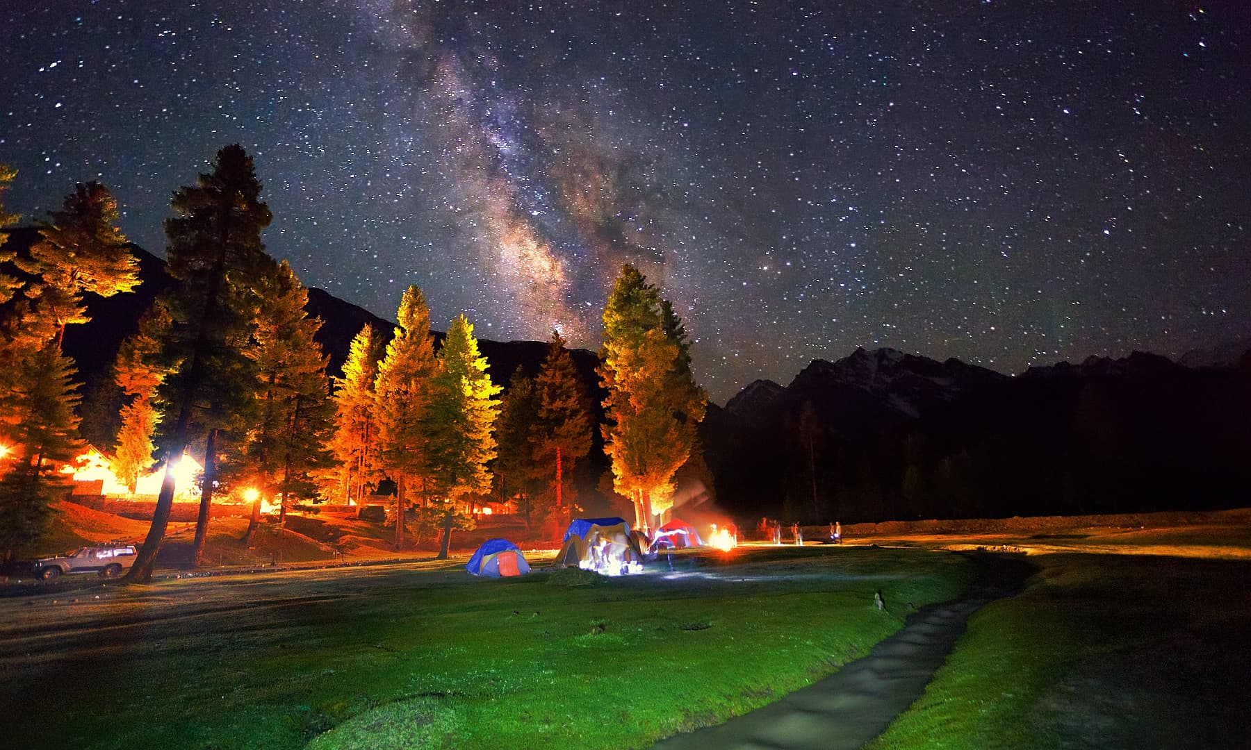 Night in Rama meadows