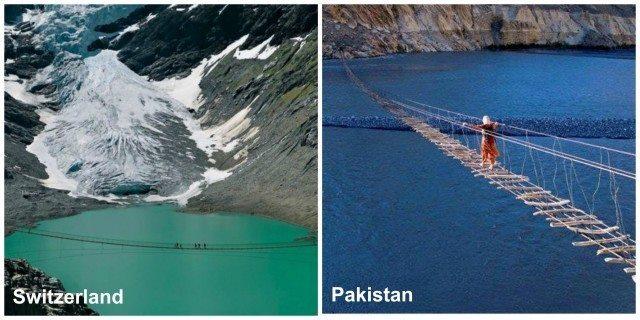 Terrifying Bridge in Passu Gojal, Gilgit Baltista