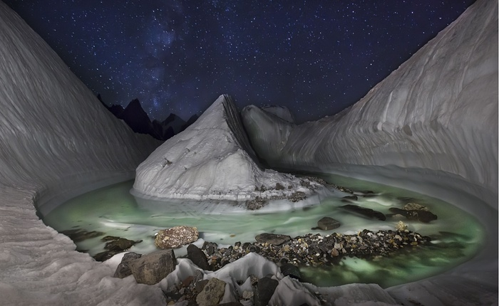 1. At the heart of Karakoram, a glacier formation found at Concordia at the very beginning of one of the longest glaciers on the planet, Baltoro