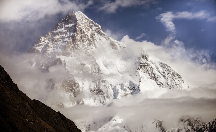 3. K2 is the second highest mountain in the world at 8,611 metres above sea level