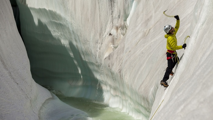 4. Training climb on the ice features of the Baltoro glacier