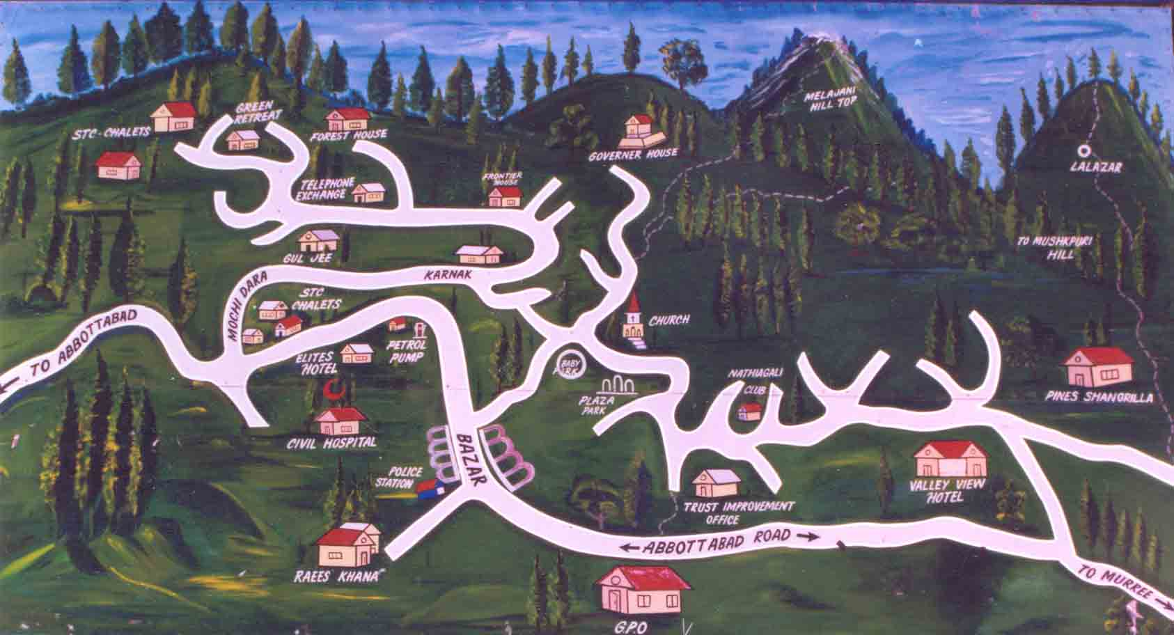 nathiagali-map