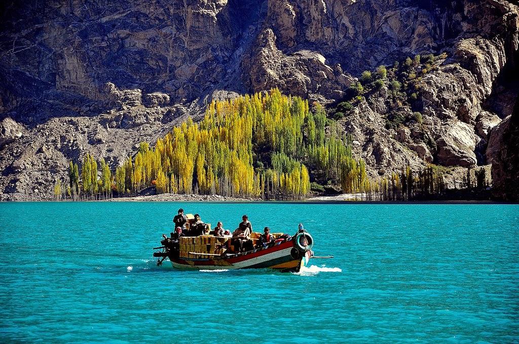 Boating at Satpara Lake