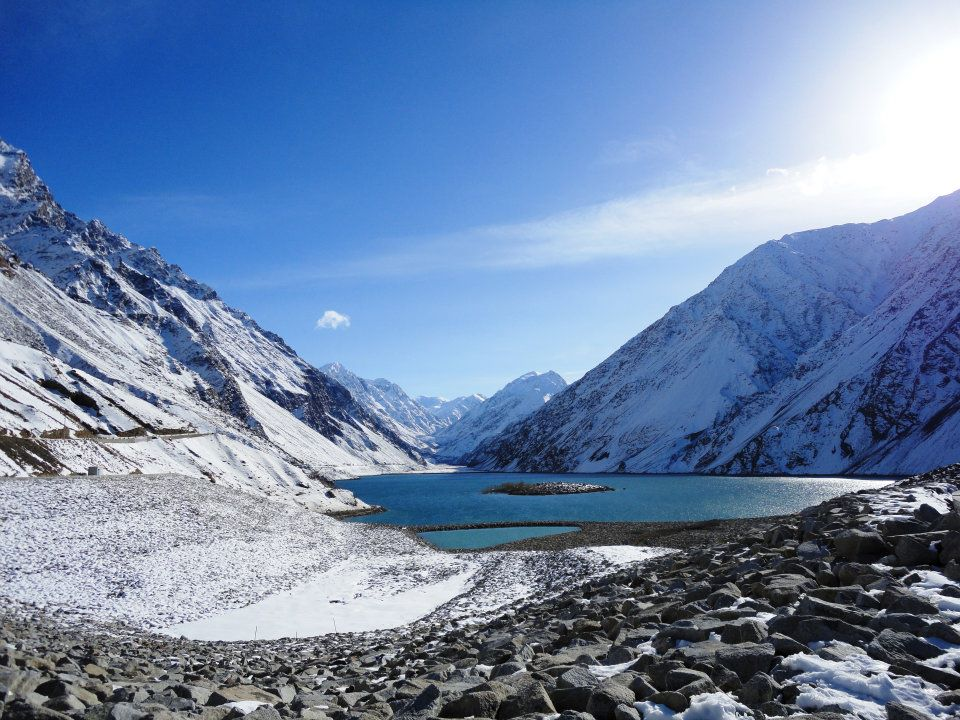 Snow at Satpara Lake
