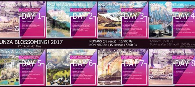 Hunza Blossoming Tour 2017(27 April – 04 May)