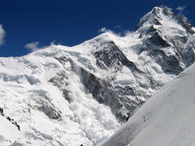 Avalanches and storms at K2